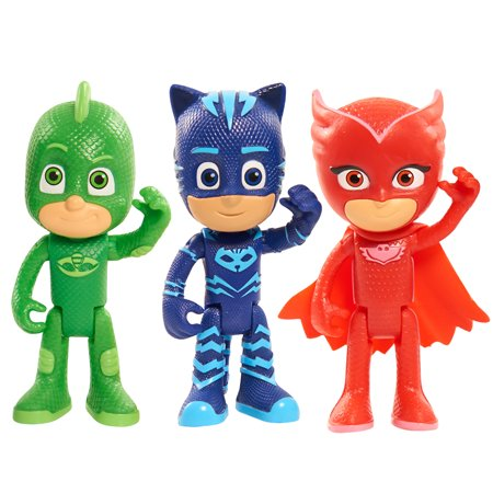 PJ Masks Articulated Figures 3pk, includes Catboy, Owlette & Gekko