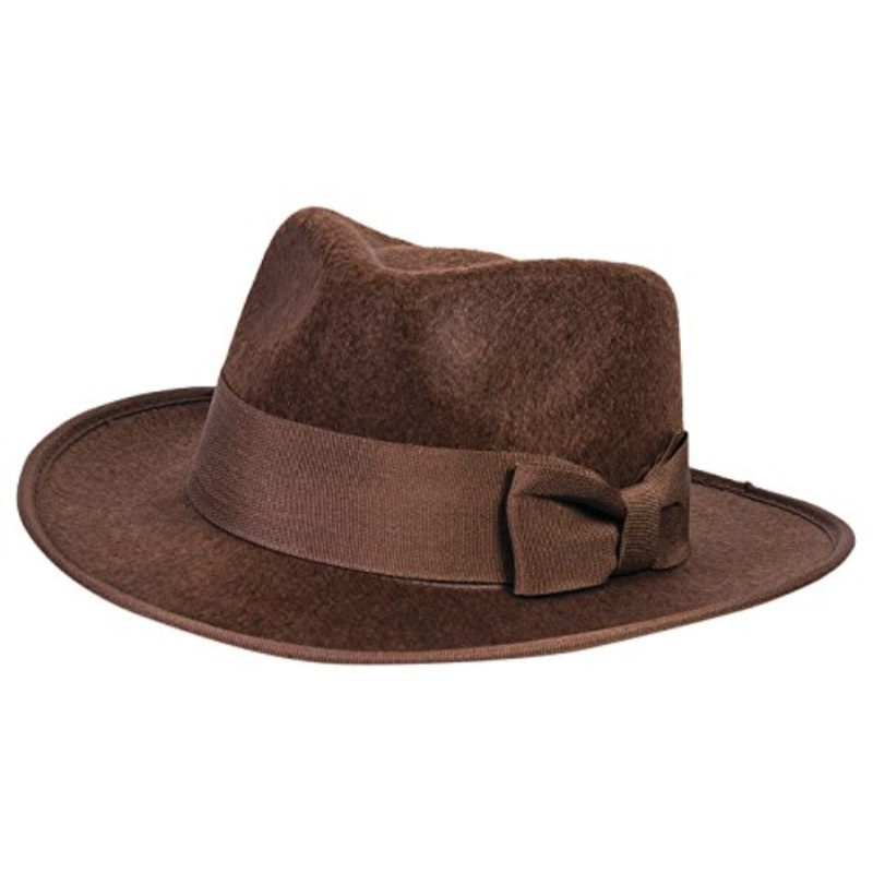Child Boys Adventurer Hat 40's Indiana Jones Brown Fedora Costume Accessory