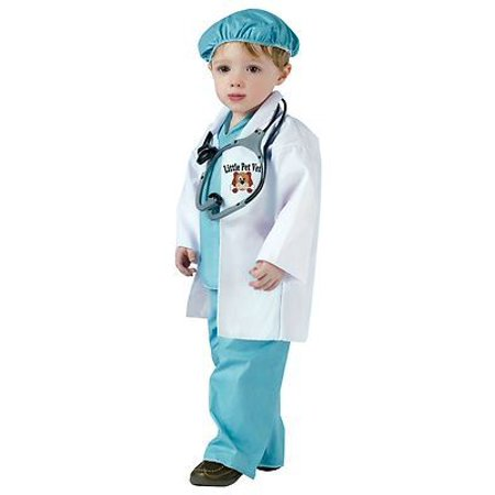 PET VET veterinarian doctor career boys girls toddler halloween costume 3T - 4T (Doctor Who Boys Costume)