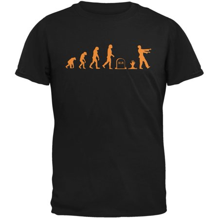 Halloween Zombie Evolution Black Adult T-Shirt - Zombie T Shirts For Halloween