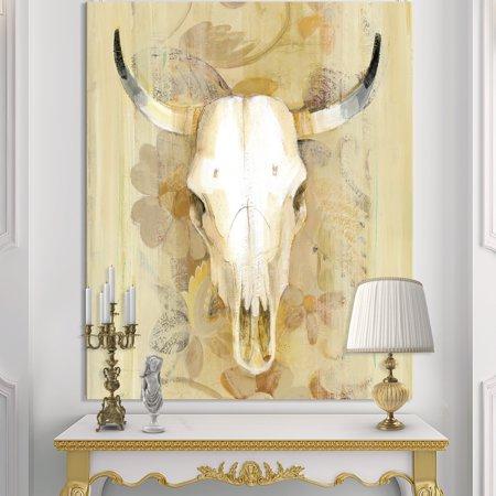 DESIGN ART Designart 'Hers southwest bones' Gold Wildlife Canvas Artwork - Brown 15 Mm Southwest Design