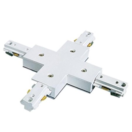 Aperture Low Voltage Trim With Adjustable Step Baffle, Satin Chrome, White Trim Aperture Low Voltage Trim