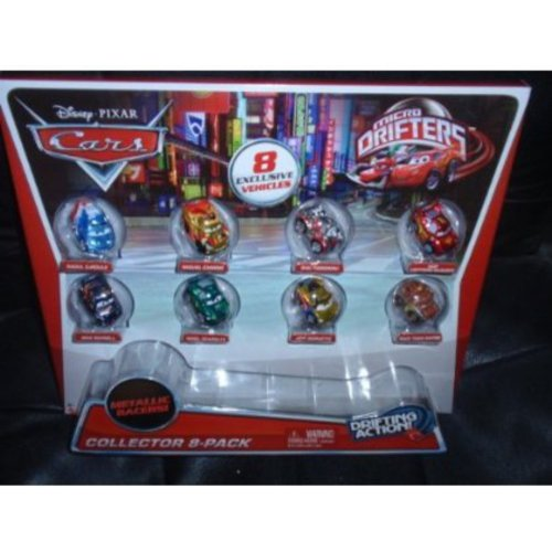 Disney Cars Micro Drifters Collector Pack, Set of 8