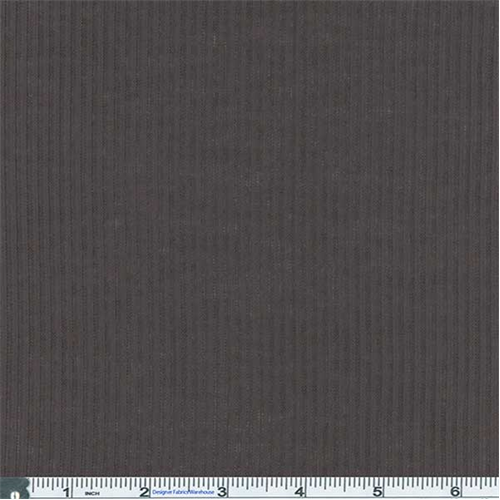 Grey Ribbed Jersey Knit, Fabric By the Yard