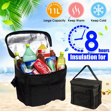 11L Large Thicken Insulated Cooling Backpack Folding Cooler Bag Picnic Camping Lunch Bag Food Fruit Seafood Steak Fresh Keeping Cooler Bags Outdoor Beer (Beef Club Steak)