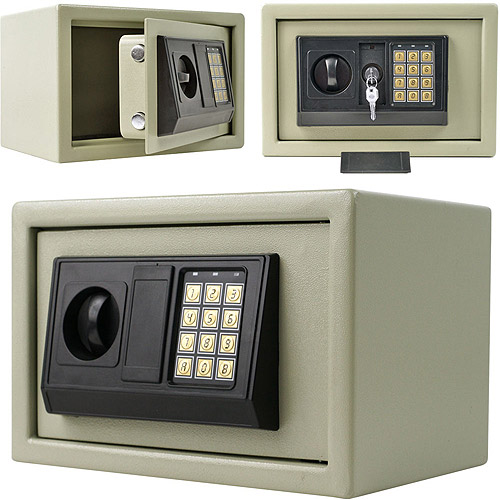 "Digital Electronic Safe Box Beige 12"" Keypad Lock Security Home Office Hotel 20"
