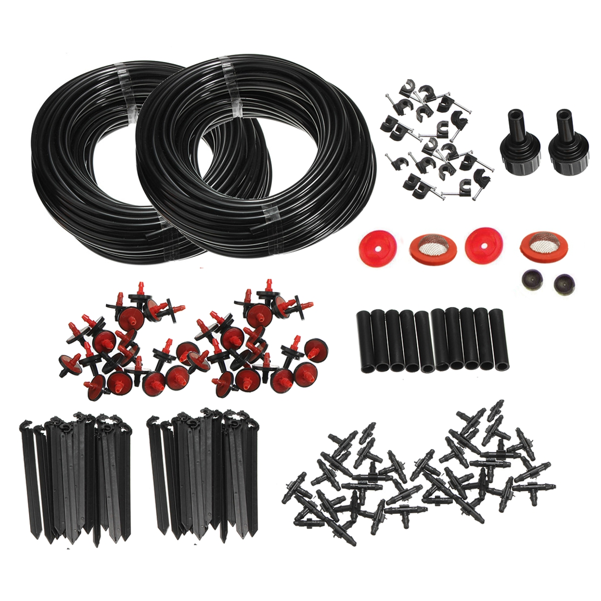 150FT Automatic Micro Drip Irrigation System Plant Self Watering Garden Hose Kits For Home Garden Hanging Basket Watering Automatic Kitcopy Plant Flower