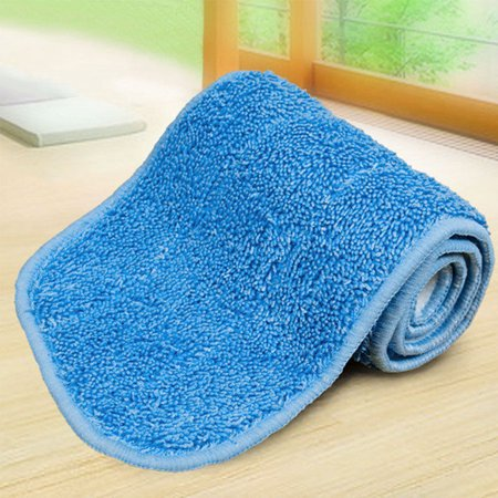 Wet Cloth - Wet Absorption Dry Dust Microfiber Flat Mop Cloth Practical Cleaning Household Mop Replacement Pad Color:Blue Size:40*12