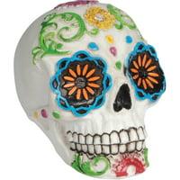Loftus Day of the Dead Sugar Skull 3-in Decoration Prop (Multi White)