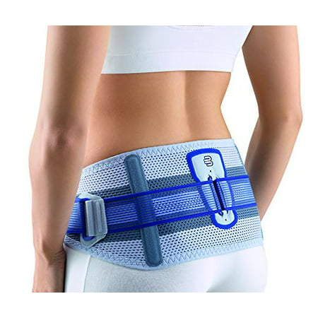Bauerfeind - SacroLoc - Back Support - Pain Relief and Back Support from Sitting or Standing Too Long, Helps Stabilize & Relieve Pressure in The Sacroiliac Joints - Titanium, Size 2
