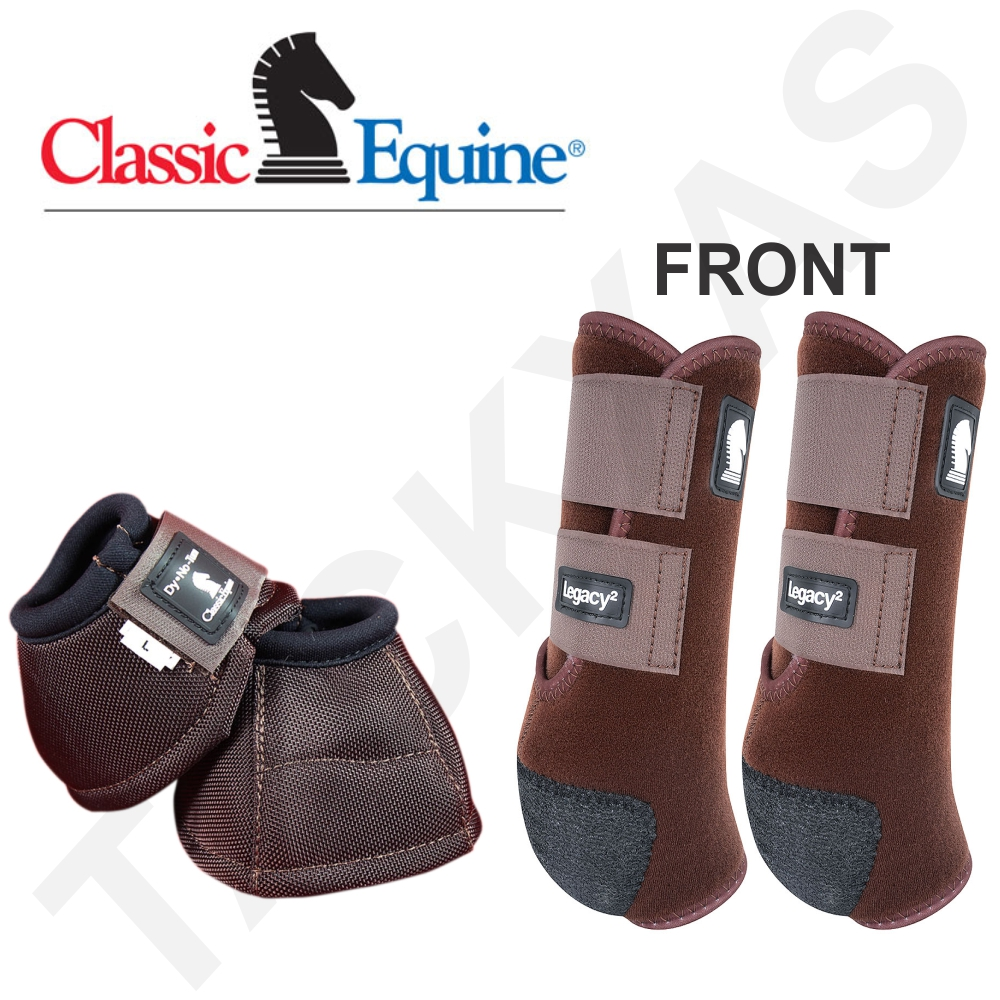 MED CLASSIC EQUINE LIGHTWEIGHT LEGACY2 FRONT DYNO BELL HORSE BOOTS CHOCOLATE