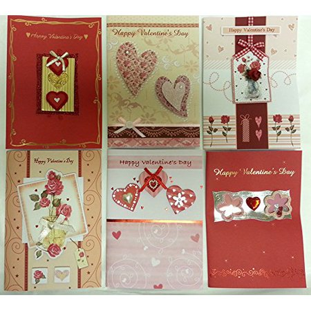 Handmade Valentine's Day Greeting Card Assorted Bulk 36 Pack (Valentine Exchange Cards)