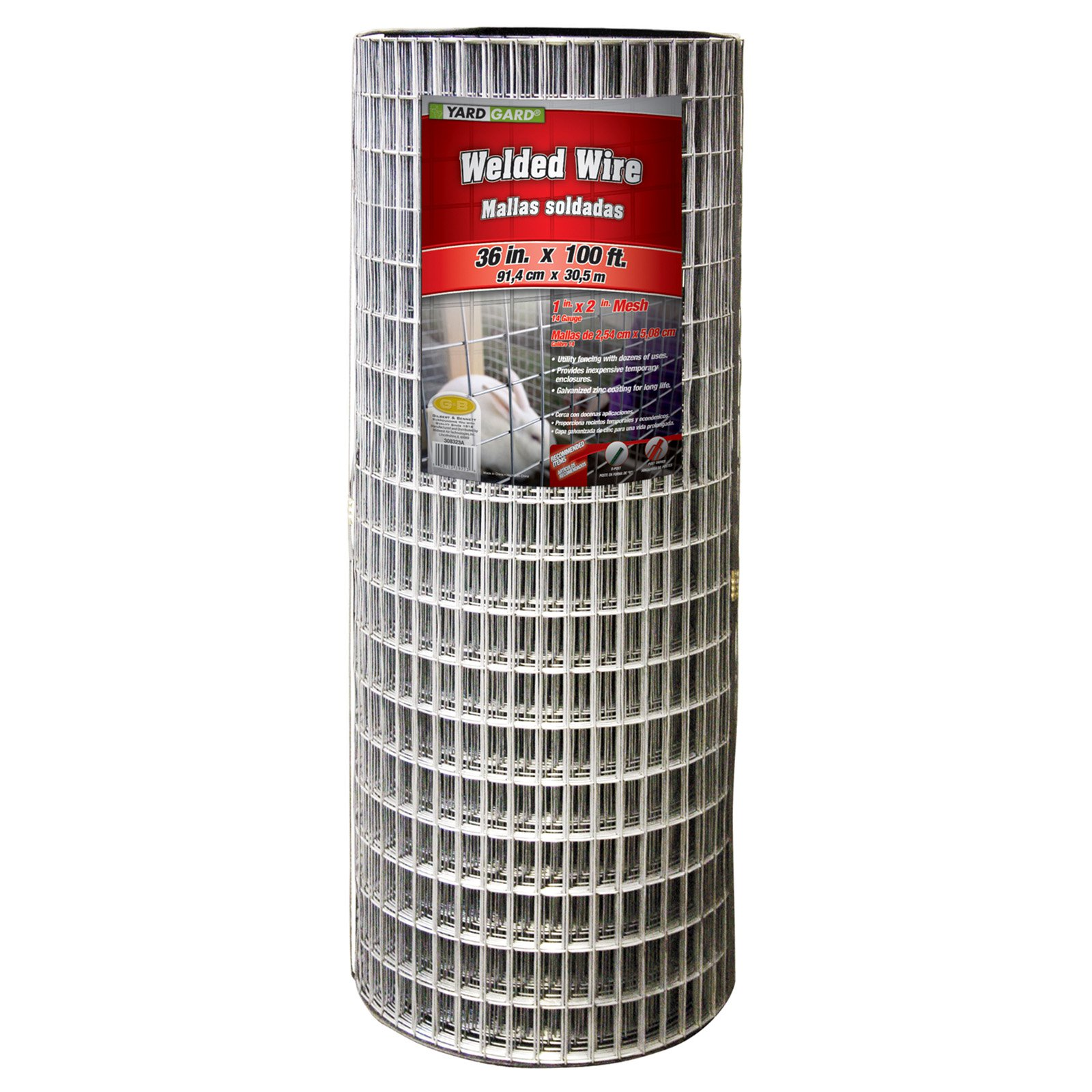 YARDGARD 2 Inch by 4 Inch Mesh, 36 Inch by 100 Foot 14 Gauge Galvanized Welded Wire Fence by Midwest Air Technologies