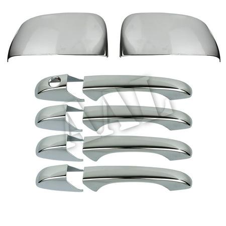 AAL Premium Chrome Cover Combo For DODGE 2008 2009 2010 2011 2012 2013 2014 2015 Grand Caravan 4 Door Handles+2 - Dodge Caravan Door Mirror