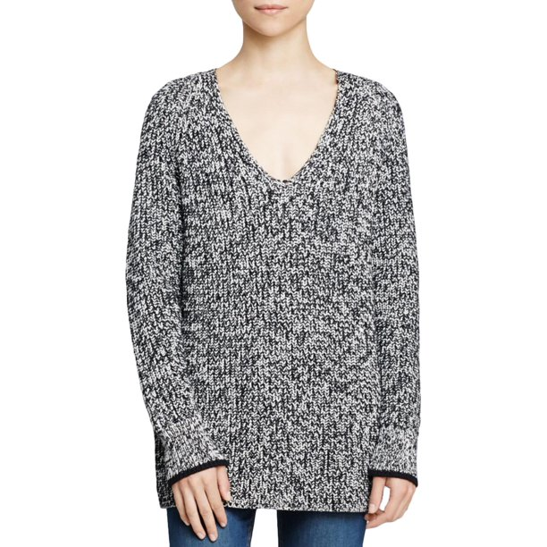 Rag & Bone Womens Knit Marled Pullover Sweater