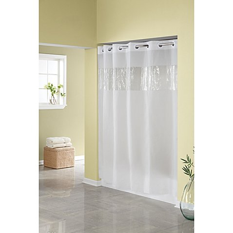 Frost 71-Inch W x 74-Inch L Shower Curtain Allows You to Hang the Curtain in Less Than 10 Seconds, It allows you to hang the curtain in less than 10 seconds. By Hookless