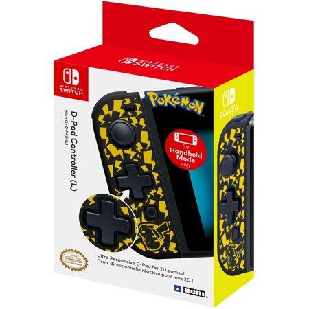HORI, Pokemon Handheld Mode Only D-Pad Controller (Left), Nintendo Switch, Black, NSW-120U