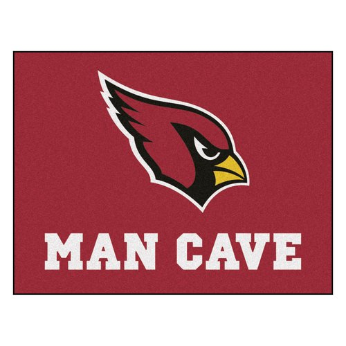 Fan Mats FAN-14260 Arizona Cardinals NFL Man Cave All-Star Floor Mat - 34in x 45in