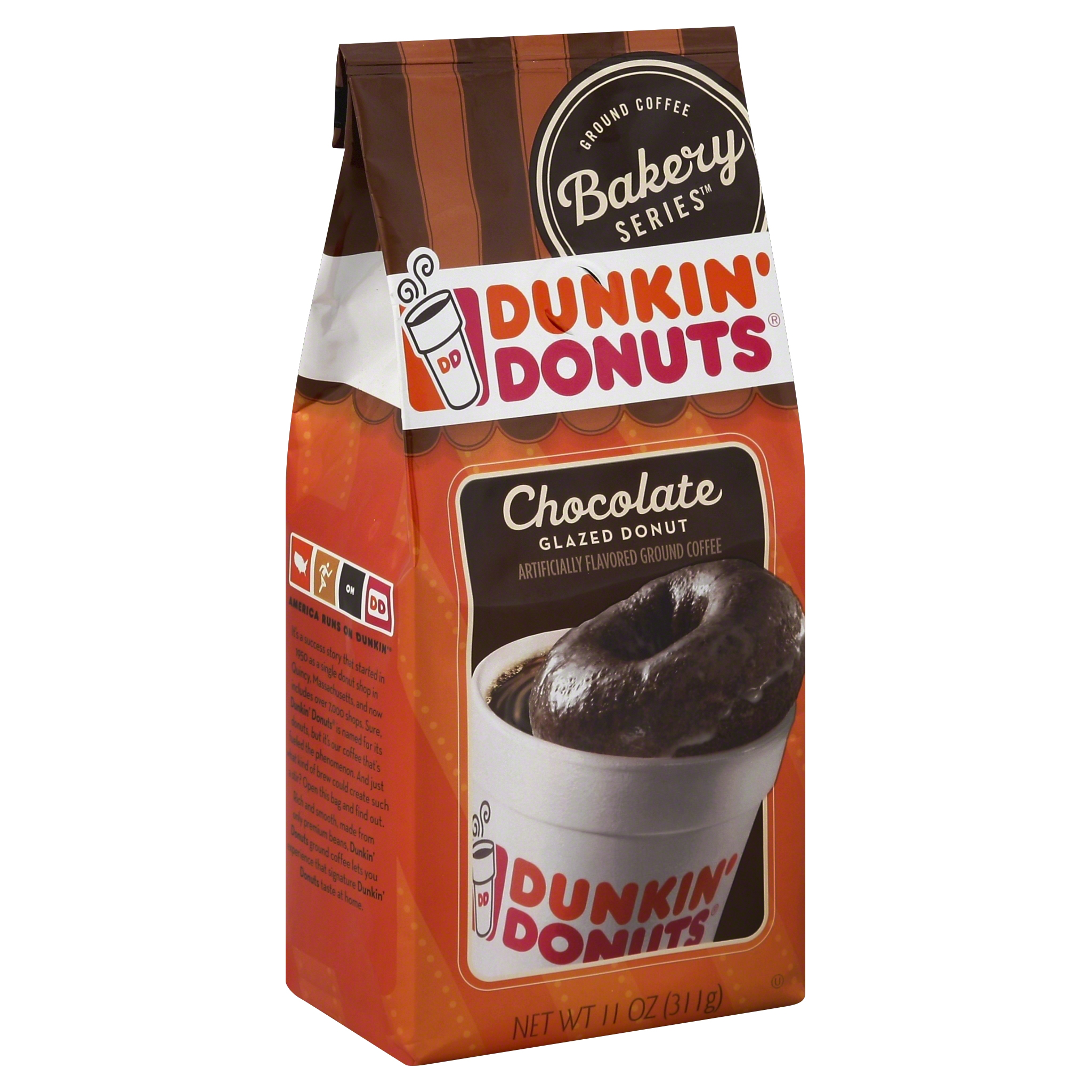 Dunkin' Donuts Ground Coffee Bakery Series Chocolate Glazed Dounut 11 Ounce