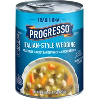 (4 pack) Progresso Soup, Traditional, Italian-Style Wedding Soup, 18.5 oz Can