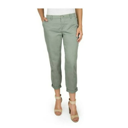 Deluxe Washed Chino (Woolrich Women's Size 6 Washed Cropped Sunday Chino Pant, Washed Sage Green )
