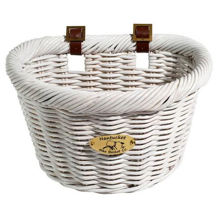 Nantucket Bicycle Basket Co. Cruiser Collection Bicycle Basket, White