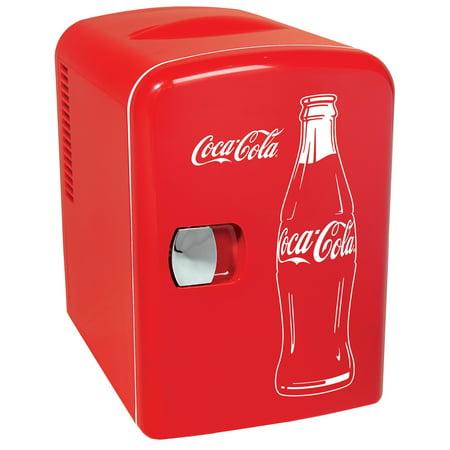 Classic Coca Cola 6 Can Personal Mini Cooler and Fridge