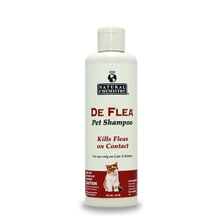 Natural Chemistry De Flea Pet Shampoo for Cats 8oz ()