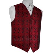 Italian Design, Men's Formal Tuxedo Vest for Prom, Wedding, Cruise , in Apple Paisley