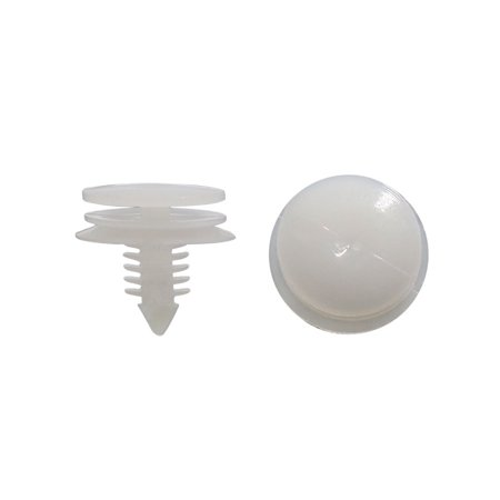 Father' s Day Gift l 20Pcs White Universal Plastic Rivets Fender Clip Arch Mouldings Fastener 8 x - Arch Moulding