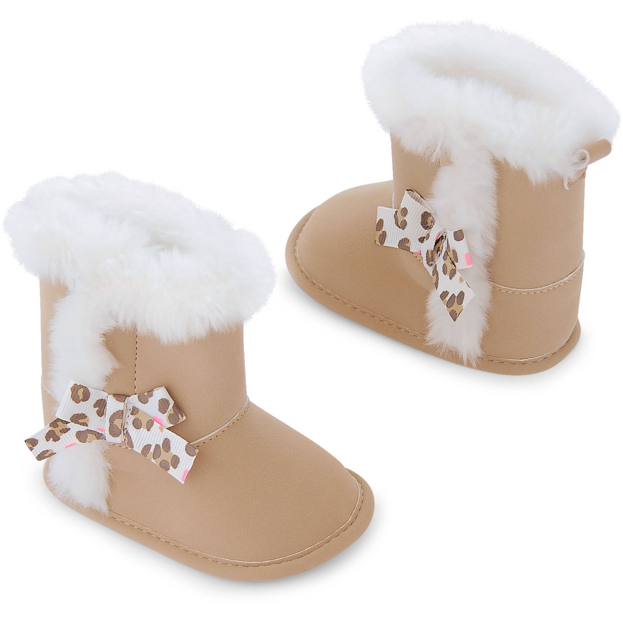 Child of Mine by Carter's Newborn Baby Girl Fur Boots