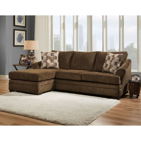 Simmons upholstery albany sofa chaise for Albany sahara sectional sofa chaise