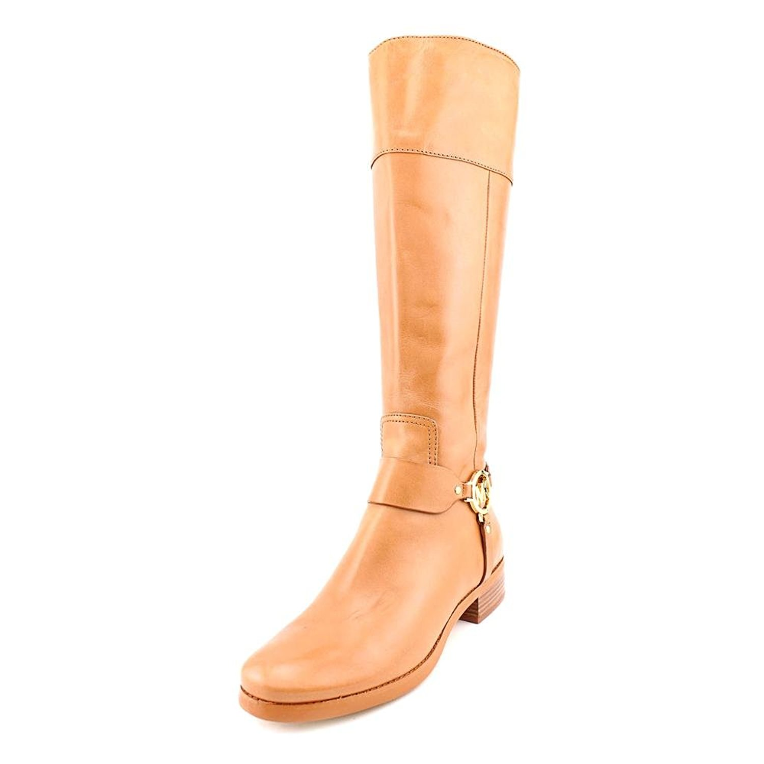 Michael Kors Womens Fulton Leather Round Toe Knee High Riding Boots