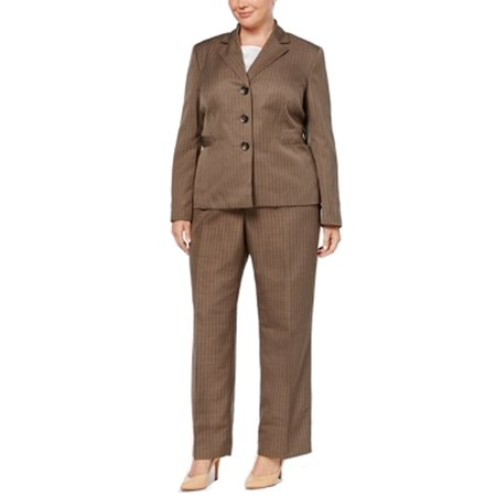 Women's Plus Striped Three Button Pant Suit Set $200 (Lightweight Three Button Suit)