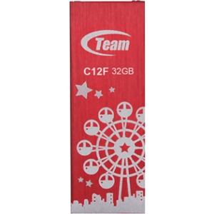 32GB Team C12F Bookmark USB2.0 Flash Drive (London Eye) Red by Team