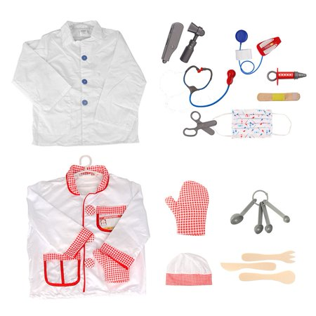 Halloween Ideas For Dramatic Play (TopTie Chef Costume Doctor Role Play Costumes Kids Cosplay Party Costume)
