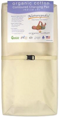 Naturepedic Organic Cotton Contoured Changing Pad by