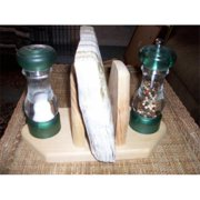 Fine Crafts 951HOU Wooden salt, pepper and napkin holder