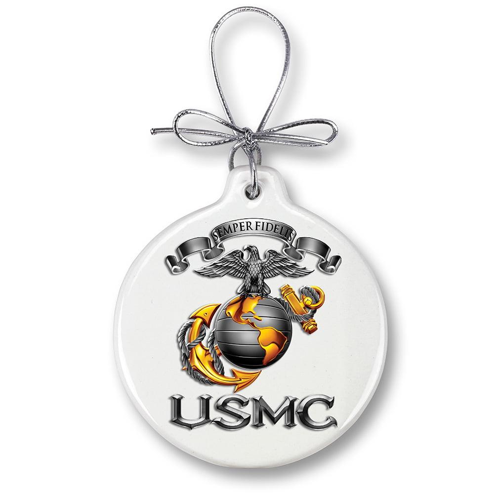 USMC Marine Corps-SEMPER FIDELIS-Christmas Tree Ornaments