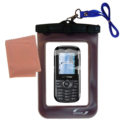 Gomadic Clean and Dry Waterproof Protective Case Suitablefor the LG Cosmos VN250 to use Underwater