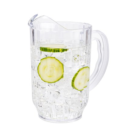 """RW Base 60 oz Clear Plastic Water Pitcher - 5"""" x 5"""" x 7 3/4"""" - 1 count box"""