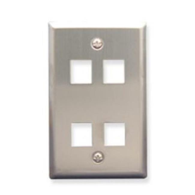 ICC FACE-4-SS IC107SF4SS - 4Port Face Stainless - image 1 of 1