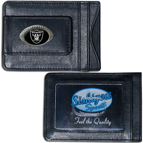 NFL - Money Clip and Cardholder,  Oakland Raiders