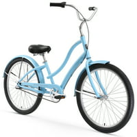 "26"" Firmstrong Women's CA-520 Three Speed Beach Cruiser Bicycle, Light Blue"