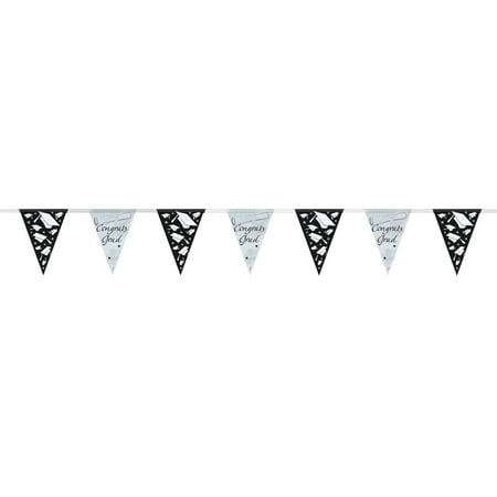 Graduation Pennant Banner, 9ft (Cute Graduation Decorations)