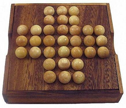 Solitaire Wooden Marble