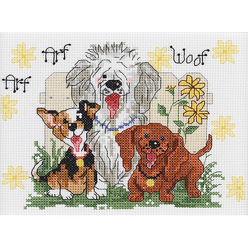 Suzy's Zoo Dogs Of Duckport Mini 14-Count Cross-Stitch Kit