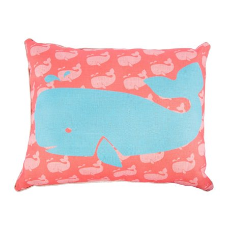 16 X 20 Cotton Linen Rectangle Whale Throw Pillow Case With 100