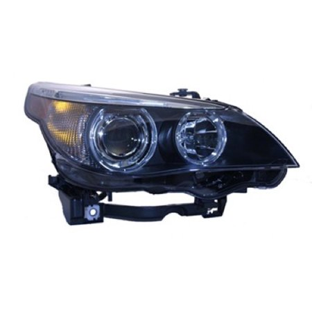 Go-Parts » 2004 - 2007 BMW 525i Front Headlight Headlamp Assembly Front Housing / Lens / Cover - Right (Passenger) Side - (E60 Body Code) 63 12 7 160 198 BM2503125 Replacement For BMW 525i