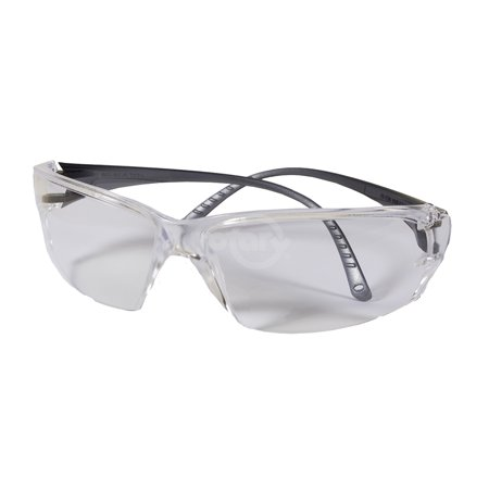 Elvex Helium 18 Safety Glasses. Clear Hard Coat Polycarbonate Lens, Translucent Clear ErgoFit Temples. Weighs only 18 grams, the lightest eyewear on the market that maintains Class 1 optics. Clear Front Translucent Portfolios